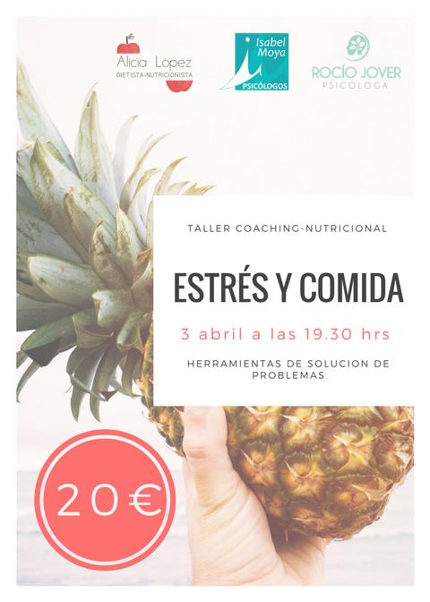 el 3 de abril llevaré a cabo la charla-taller estrés y comida en Alicante